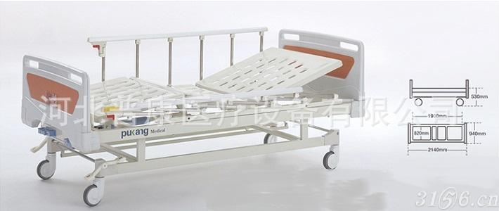 小护士B-10移动双摇手动医疗病床家用家居护理床